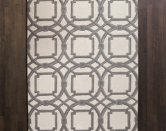 Global Views Grey Ivory Arabesque Rug modern-rugs