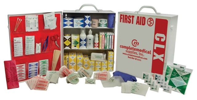 Complete Medical 100-150 Person First Aid Kit - 38 Pieces - Modern - Desk Accessories - by Hayneedle