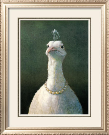Fowl with Pearls Print by Michael Sowa eclectic-artwork