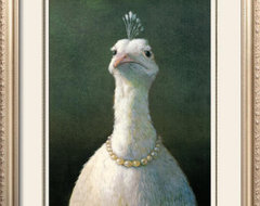 Fowl with Pearls Print by Michael Sowa eclectic artwork