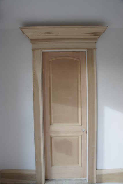 2 Panel Arch Top Raised Bolection Molding Contemporary