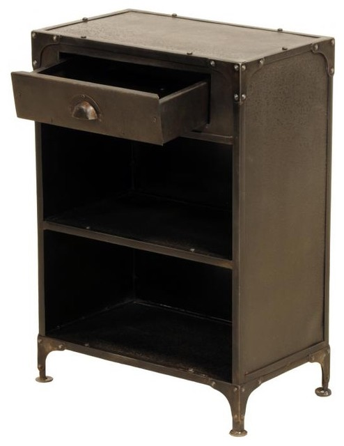 Industria 1 Drawer Tool Chest - Eclectic - Side Tables And End Tables - new york - by Zin Home