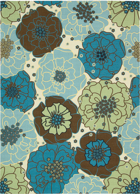 "Home and Garden RS021 7'9"" x 10'10"" Light Blue Rug contemporary-rugs"