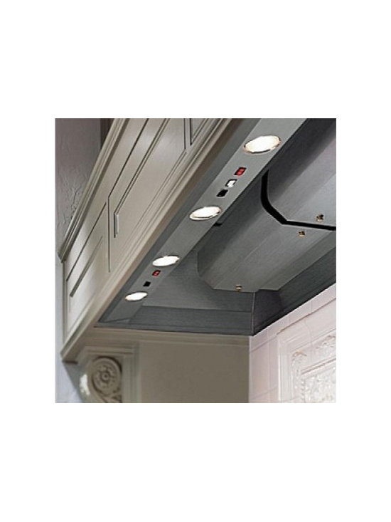"""Vent-A-Hood 46"""" Wall Hood Line - This Vent-A-Hood wall mount hood liner, BH346PSLDSS, can be used above professional-style cooking equipment.  The hood features magic lung filter-less design and is 100% fire safe and extremely quiet. The liner also features dual level halogen lighting and comes in stainless steel."""