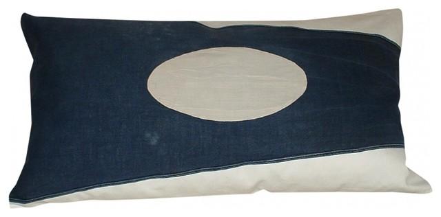 Nautical Signal Flag Pillow eclectic-decorative-pillows