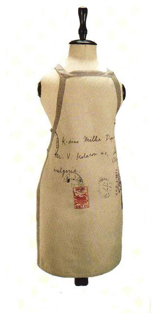 Cotton Chambray Apron contemporary-aprons
