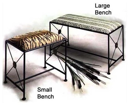 Large Black Neoclassic Vanity Bench modern-benches