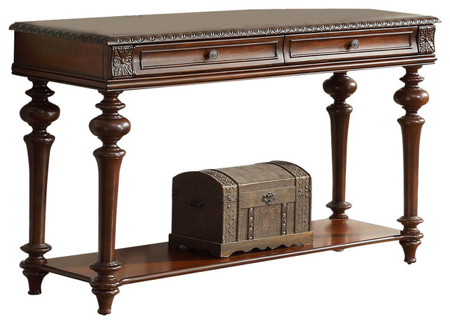 Homelegance Westfeldt 2-Drawer Sofa Table in Rich Cherry - Traditional - Console Tables - by ...