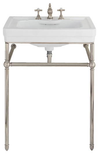 Lutezia 28 Inch Console Lavatory Sink By Porcher Traditional Bathroom Sin