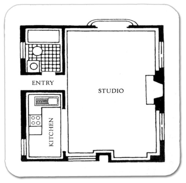 Floor Plan Coasters, Set of 10 modern-barware