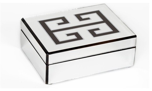 Waylande Gregory Green Key Mirror Box - Contemporary - Decorative Boxes - by Zhush LLC