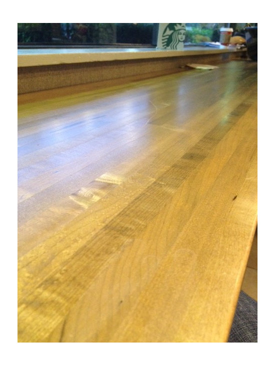 Gym Floor Countertops - Eastern Maple Gym Floor Countertop from Windfall Lumber: