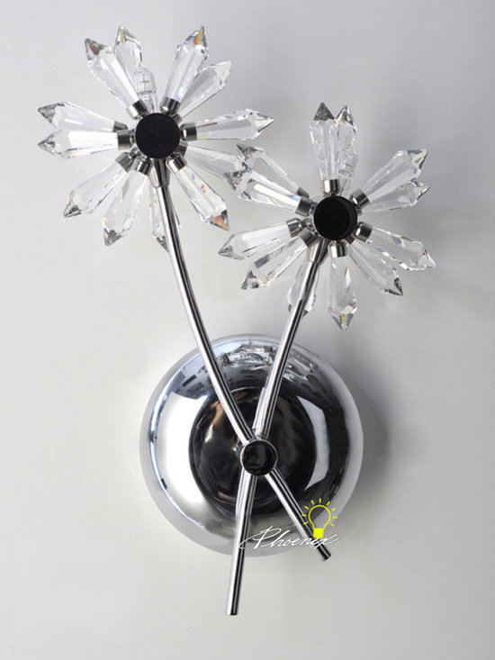 Modern Crystal Snowflake Wall Sconce in Chrome Finish - Modern Crystal Snowflake Wall Sconce in Chrome  Finish
