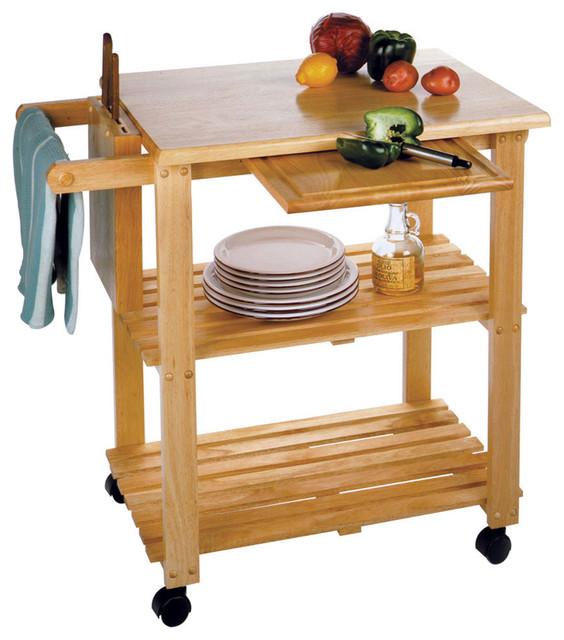 Winsome Wood 92534 Mali Kitchen Cart: Winsome Wood Kitchen Cart W/ Cutting Board