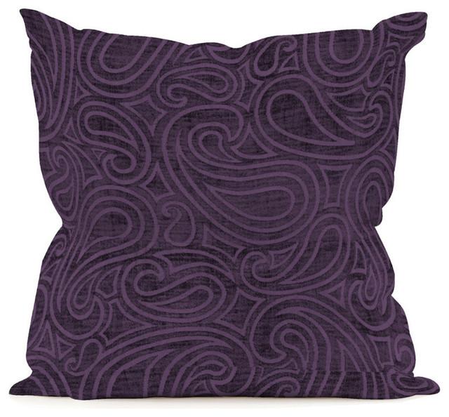 Eggplant Colored Throw Pillows : Rhythm Eggplant 16