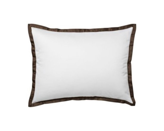 Serena & Lily - Chocolate Border Frame Standard Sham - For those who crave a quieter bed, this beautiful layering piece allows you to start simple and add on as you desire. Dial it up with sheets in a bold color and pattern, or keep it clean and classic whatever suits your style.