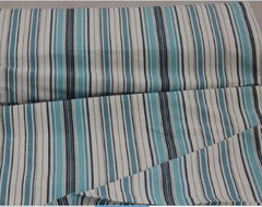 Blue navy white stripes curtain material fabric modern upholstery fabric
