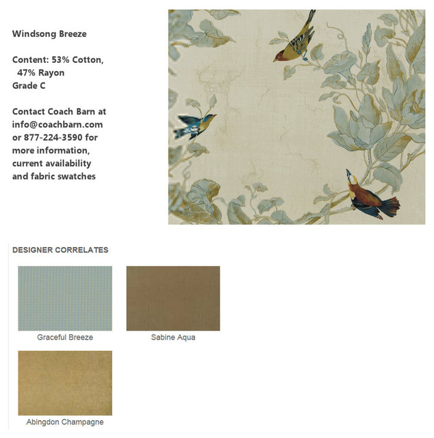 Windsong Breeze Upholstery Fabric- CB Upholstered Collection traditional-upholstery-fabric