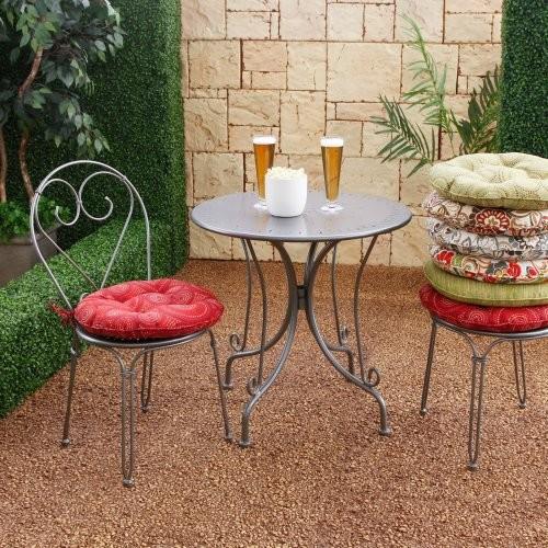 Atrium 18 x 18 Bistro Outdoor Round Seat Cushion Enterprise Colonial contemporary-outdoor-pillows
