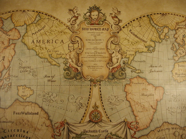 Old World Map Mural