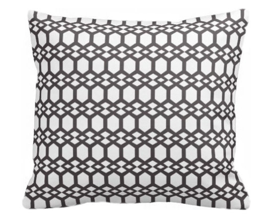 PURE Inspired Design - Smock Organic Pillow Cover, Dark Gray/Natural, 18 X 12 - Collection:  PURE Beach