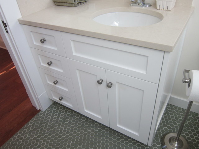 Shaker Style Remodel In Palo Alto Traditional Bathroom Vanities And Sink Consoles Other