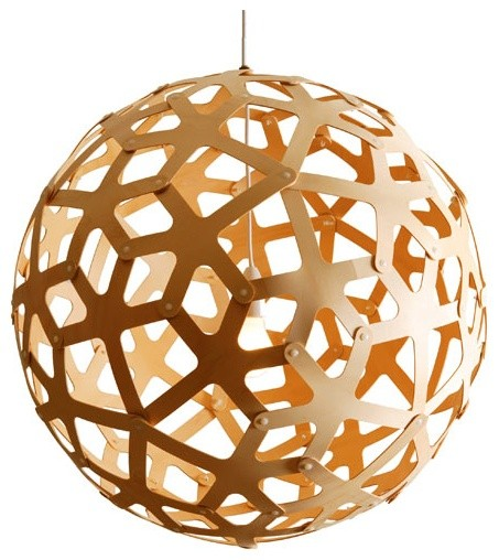 David Trubridge Design  Coral Pendant - Natural modern-pendant-lighting