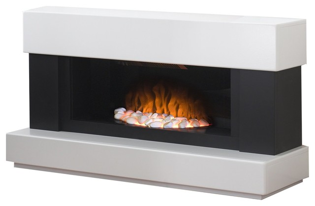 adam verona fireplace suite in white with electric fire