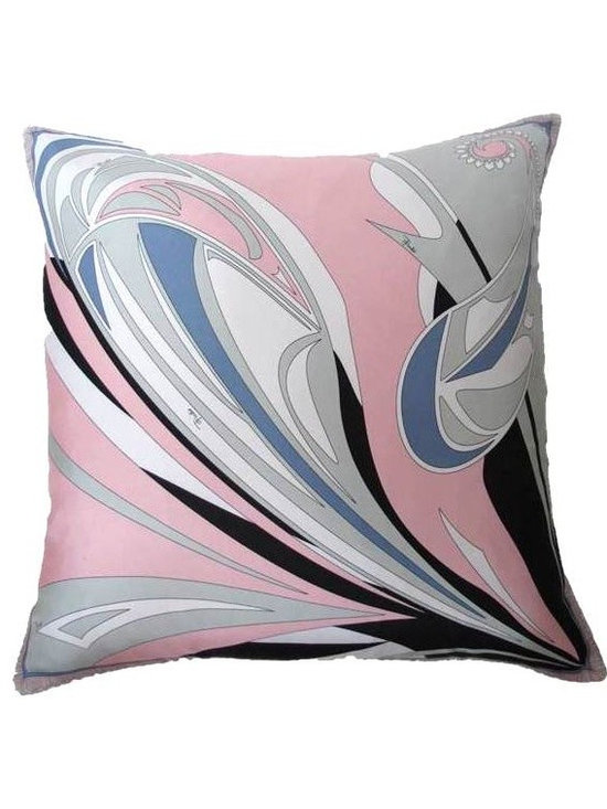 Whimsy  Pillow made with Pucci Scarf - TracySmithNewYork.com