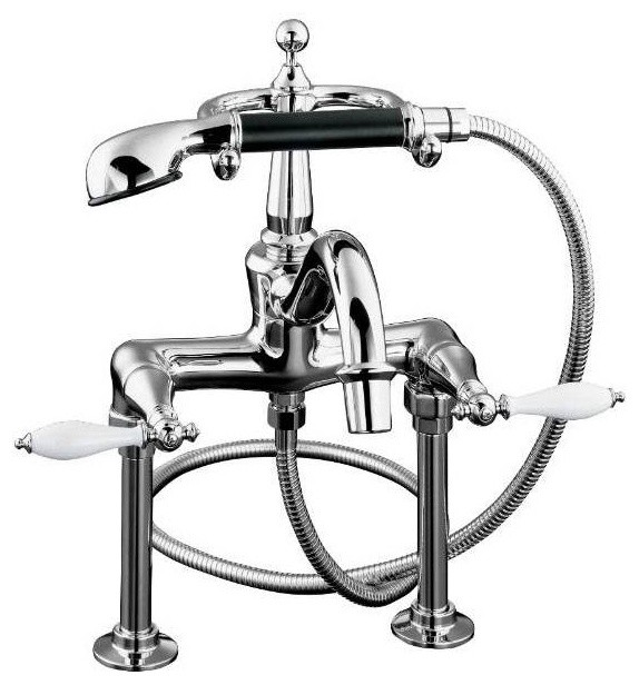 Kohler Finial Faucet Clawfoot Tub and Shower Filler - traditional