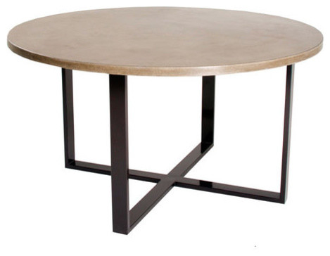 X Round Dining Table In Mesa 42 Modern Tables