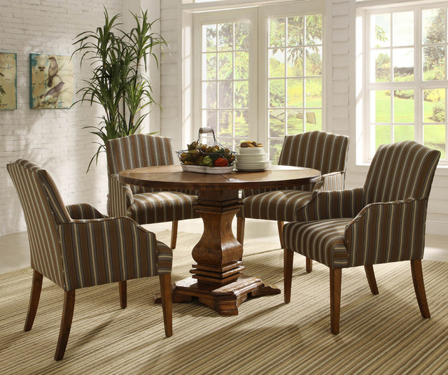 Casual Dining Room Furniture Sets: Homelegance Euro Casual 5 Piece Round Pedestal Dining Room