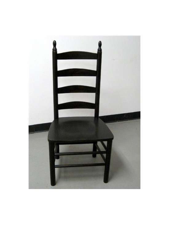 4 Slat Ladder Back Dining Chair - Made by http://www.ecustomfinishes.com