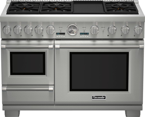 48 inch Professional Series Pro Grand Commercial Depth Dual Fuel Steam Range PRD modern-gas-ranges-and-electric-ranges