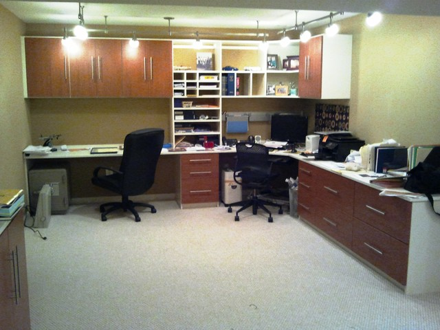His Hers Home Office Traditional Home Office Baltimore By California Closets Maryland