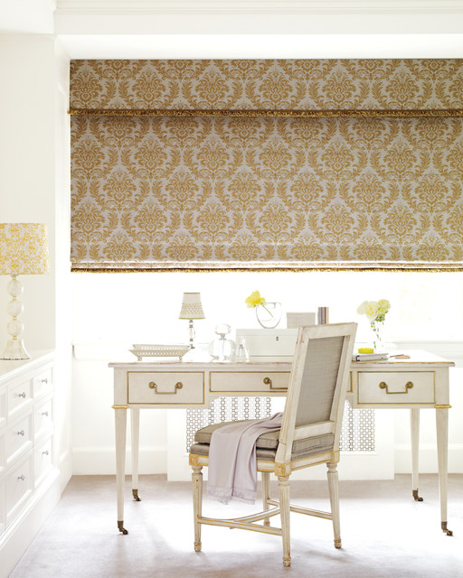 Design Studio™ Roman Shades with EasyRise™ cord loop traditional-window-treatments