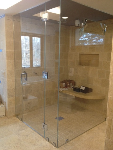Frameless steam Shower Enclosure - traditional - showers - new