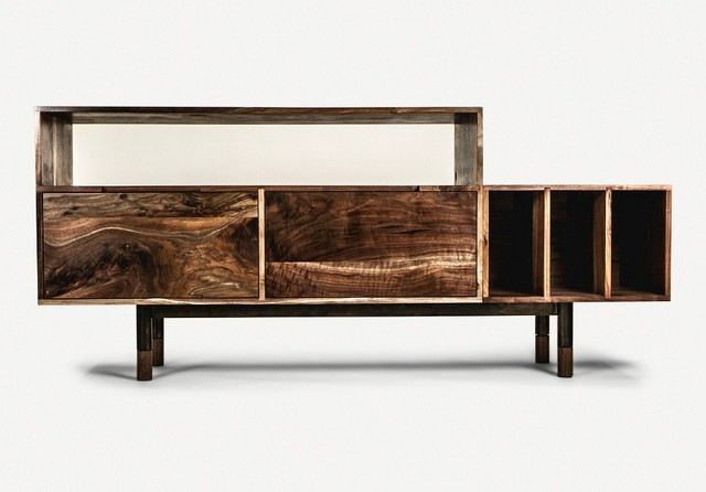Record Credenza - Contemporary - Media Cabinets - vancouver - by Jeff Martin Joinery