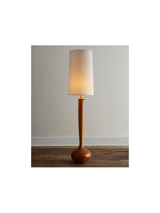 'Tulip' Floor Lamp - Sophisticated yet simple, this midcentury lamp boasts a tulip bulb base, making it a truly unique find.