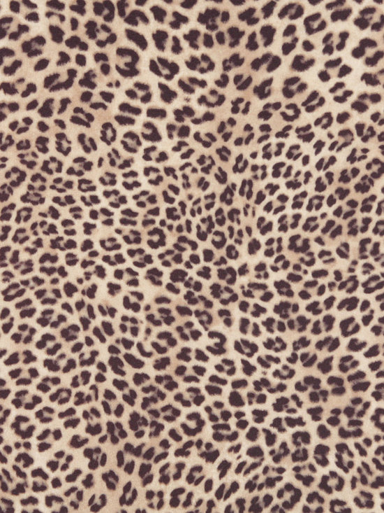 E419 Leopard Animal Print Microfiber Fabric -