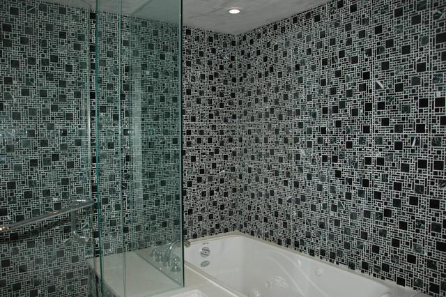 Townhouse contemporary-bathroom