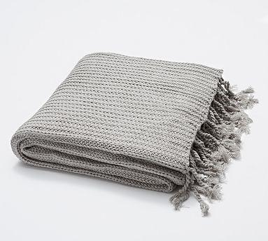 Austin Shaker Knit Throw 50 X 60 Quot Light Gray