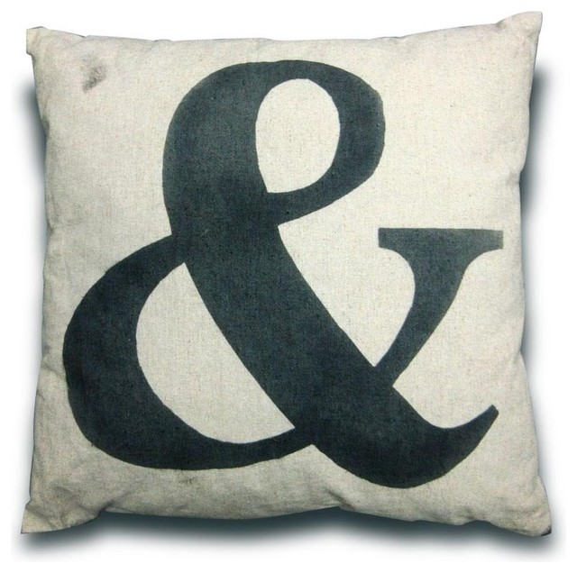 French Style Cushion with & Symbol modern pillows