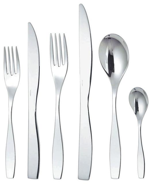 Alessi flatware duna cutlery set 6 piece modern - Alessi dinnerware sets ...