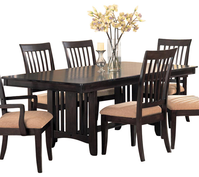 Monaco Double Pedestal Dining Table by Coaster Fine Furniture contemporary-dining-tables