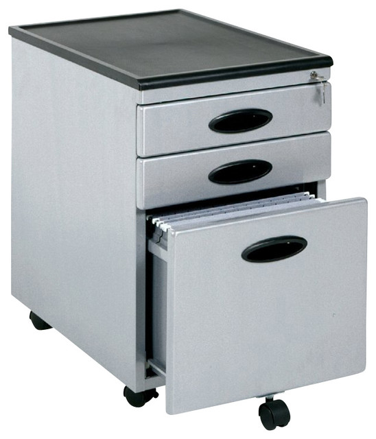 Studio RTA Mobile 3-Drawer Metal Mobile Vertical File Cabinet - Transitional - Filing Cabinets ...