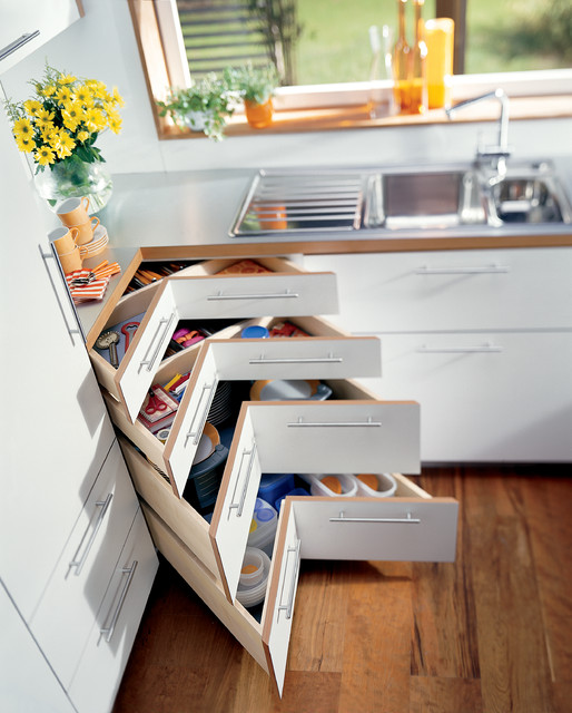 Blum-corner drawers - Pantry And Cabinet Organizers - other metro - by tarek elsallab company