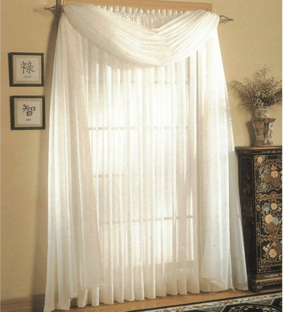 United Curtain Venice Crushed Voile Curtain Panel - modern ...