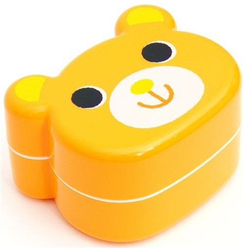 cute yellow Bear Bento Box Japanese lunch box - food containers ...