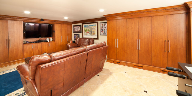 Basement (wine cellar, Laundry, media unit) traditional basement